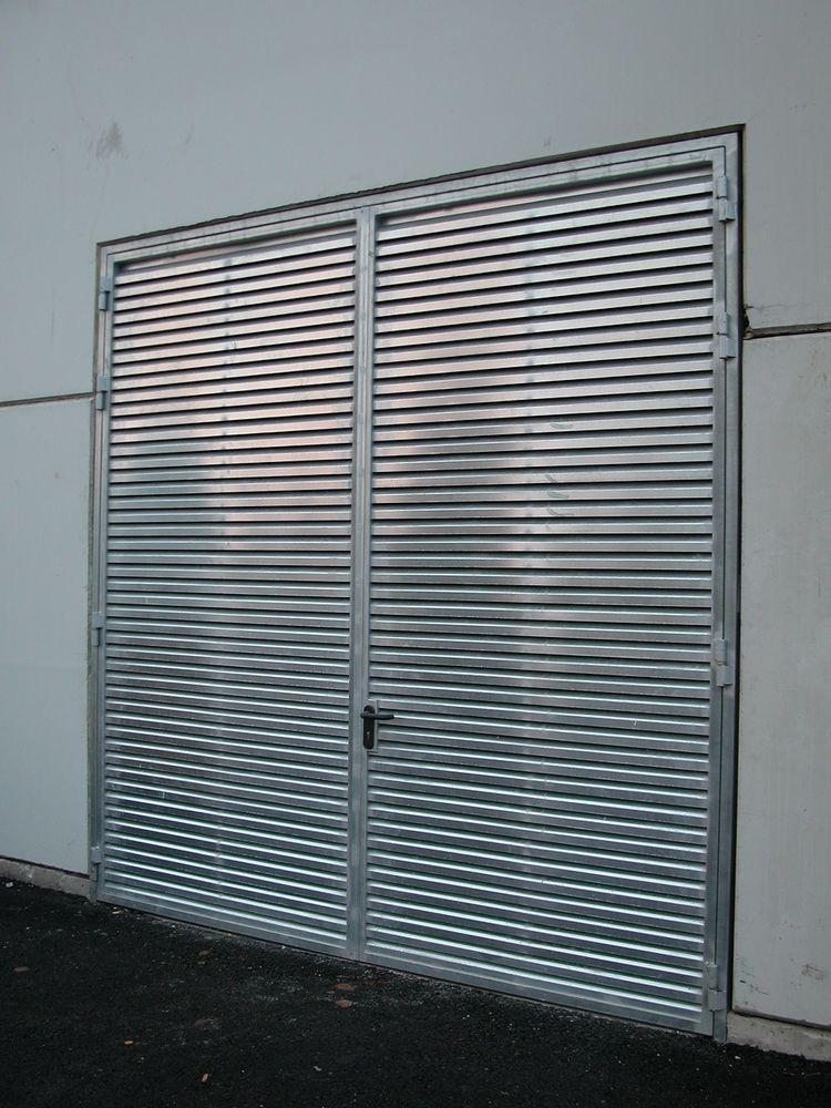 Puertas de chapa galvanizada finest descripcin fabricado ntegramente en chapa galvanizada - Puertas de chapa galvanizada ...