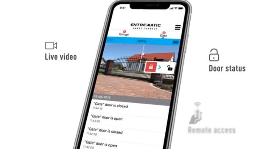 App móvil para apertura de puerta de garaje